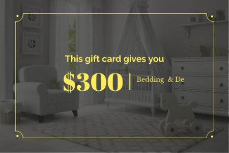 Cozy nursery interior Gift Certificate Design Template
