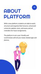 Education Platform ad with happy Students