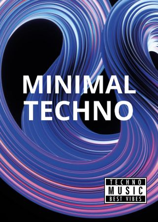 Template di design Minimal Techno Party announcement Flayer