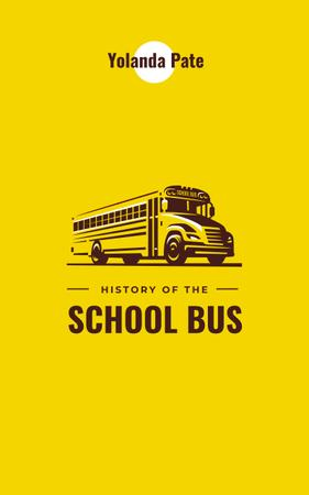 Yellow school bus Book Cover Design Template