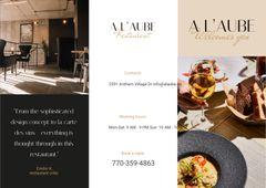 Restaurant Ad with Modern Minimalistic Interior