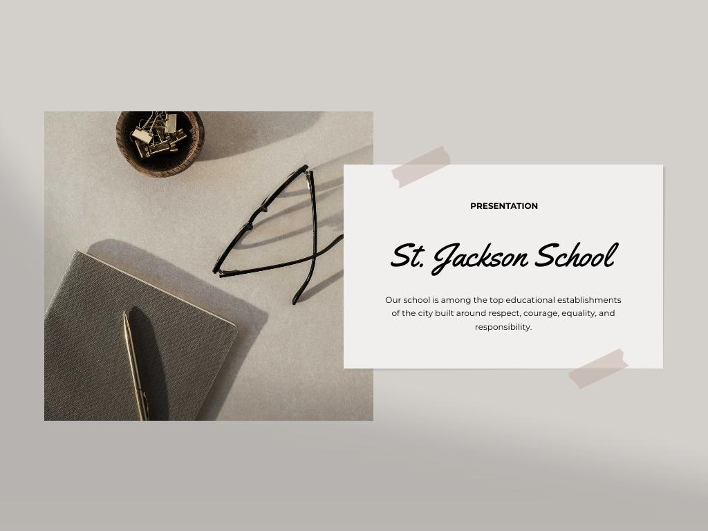 Private School Services Offer Presentation – шаблон для дизайна