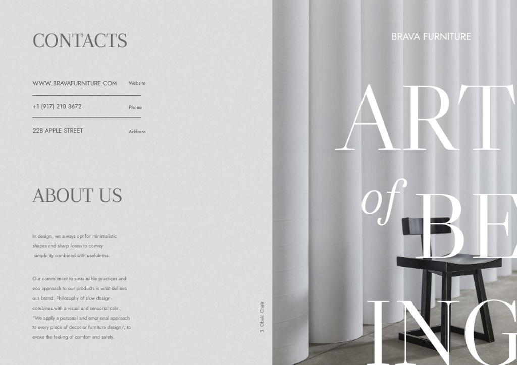 Interior Decoration Offer with Stylish Chair Brochure – шаблон для дизайна