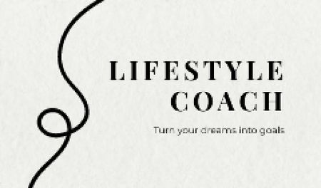 Modèle de visuel Lifestyle Coach services offer - Business card