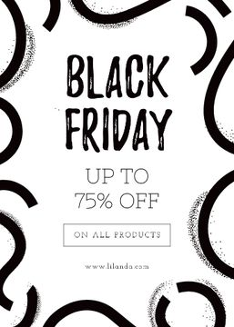 Black Friday ad on ribbons pattern