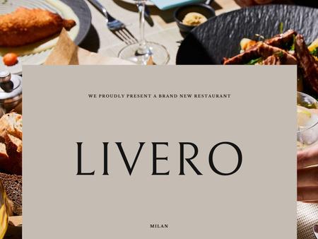Platilla de diseño Restaurant Ad with Delicious Food on Table Presentation