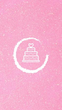 Ontwerpsjabloon van Instagram Highlight Cover van Wedding Services and attributes in pink