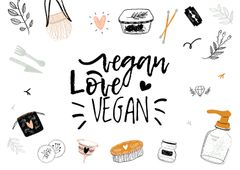 Vegan Lifestyle Concept with Eco Products