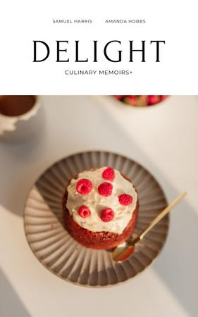 Delicious Dessert with raspberries Book Cover – шаблон для дизайна
