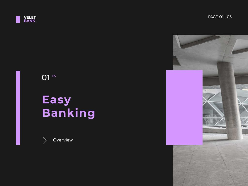 Banking Services Offer Presentation – шаблон для дизайна