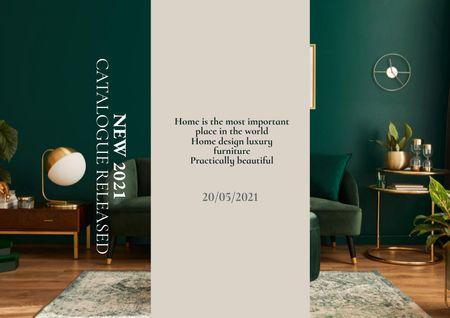 Ontwerpsjabloon van Brochure van Stylish Interior in Green Tones