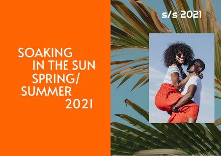 Modèle de visuel Stylish Couple in Bright Summer Outfit - Brochure