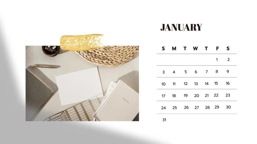 Stylish Business Workplace Calendar Design Template