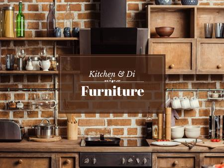 Plantilla de diseño de Kitchen and dinning furniture Presentation