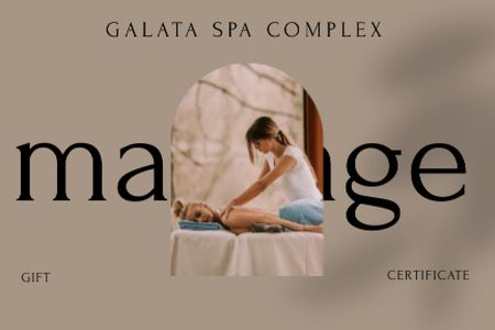 Woman at Spa Massage Therapy Gift Certificate Modelo de Design