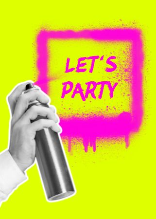 Party announcement in graffiti frame Flayer – шаблон для дизайну