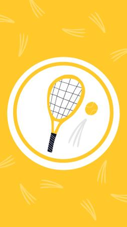 Tennis Game illustrations in circles Instagram Highlight Cover Design Template