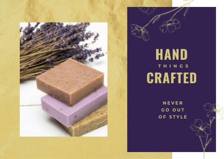 Template di design Handmade soap bars Postcard