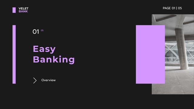 Banking Company overview Presentation Wide – шаблон для дизайна