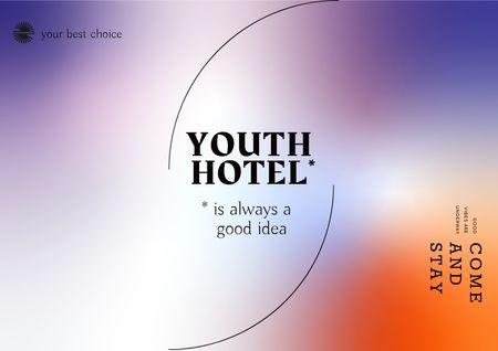 Plantilla de diseño de Youth Hotel Services Offer Brochure