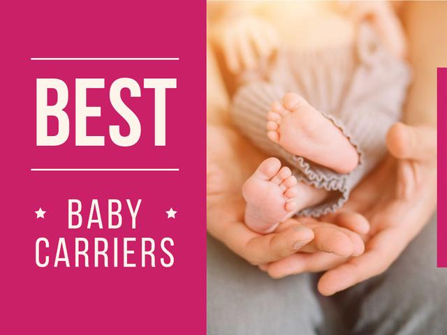 Template di design Parents with newborn baby Presentation