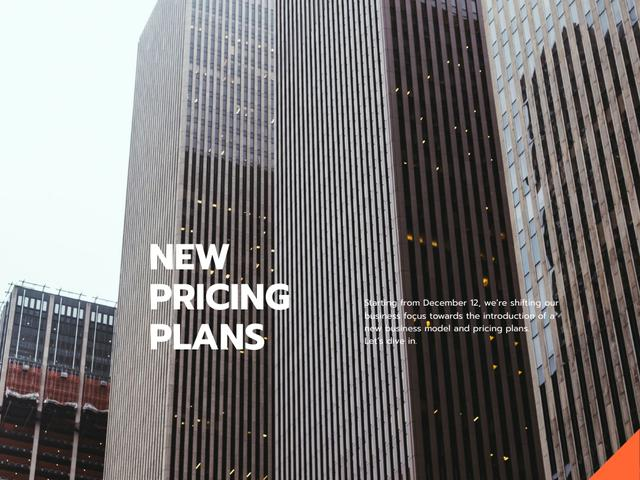 Designvorlage Business Company Services Offer with Modern Building für Presentation