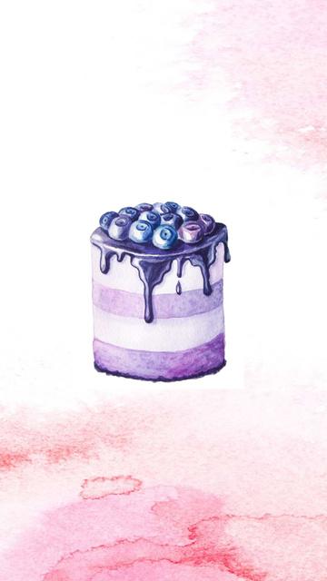 Bakery assortment with Desserts Instagram Highlight Cover – шаблон для дизайна