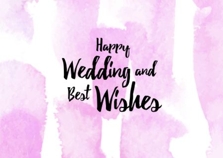 Szablon projektu Wedding greeting on watercolor pattern Postcard