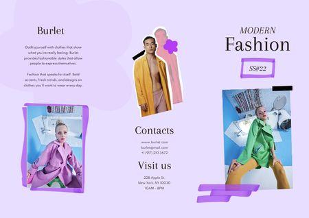 Plantilla de diseño de Young People in Stylish Clothes Brochure