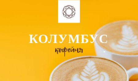 Coffee House promotion with cups of Cappuccino Business card – шаблон для дизайна