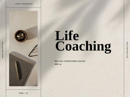 Ontwerpsjabloon van Presentation van Lifestyle Coaching project promotion
