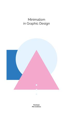 Minimalism in Design Colorful Geometric Figures Book Cover Modelo de Design