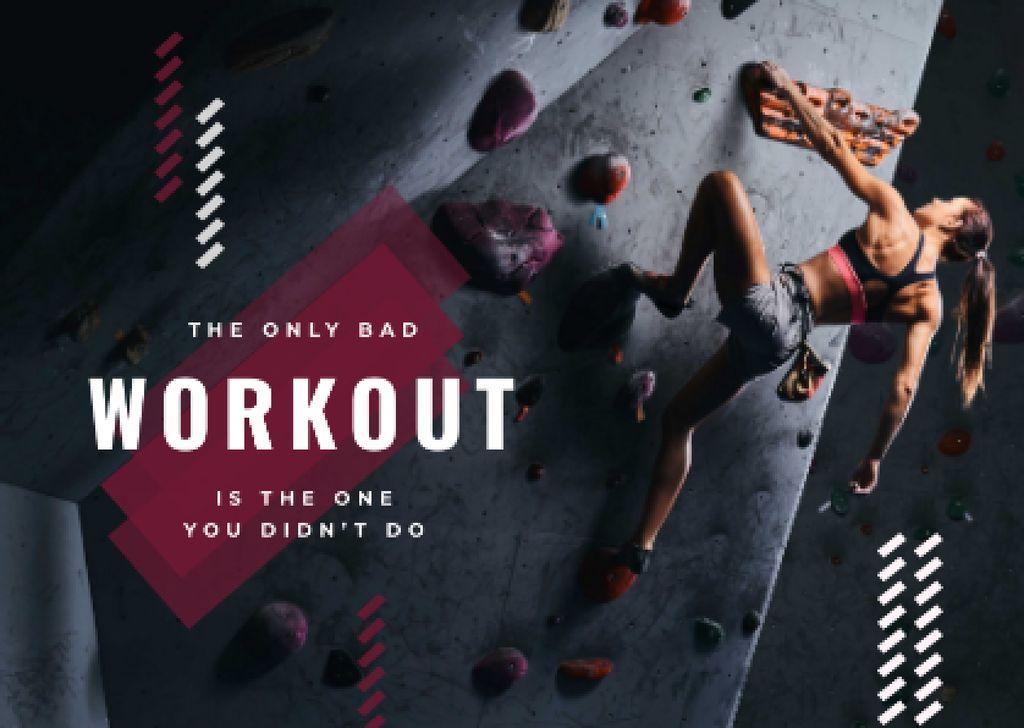 Girl climbing on the wall — Створити дизайн