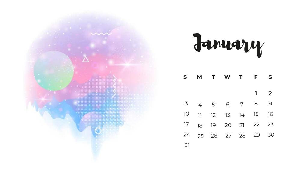 Surreal Fantastic Worlds Calendar Design Template
