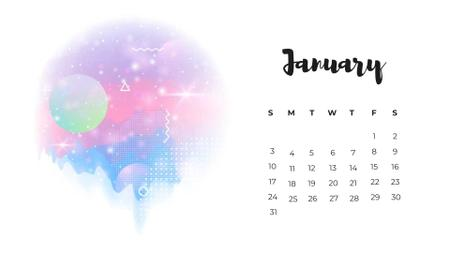 Surreal Fantastic Worlds Calendar Design Template