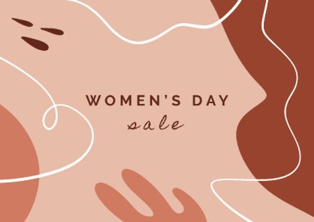 Women's Day Special Sale Postcardデザインテンプレート
