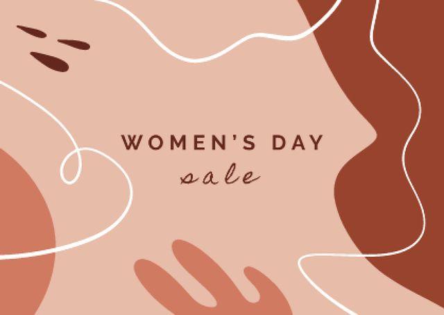Plantilla de diseño de Women's Day Special Sale Postcard