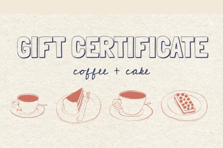 Template di design Cafe offer with Coffee and Cake Gift Certificate