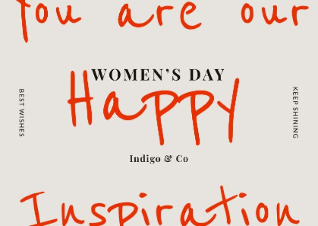 Women's Day Greeting Card Postcard Design Template