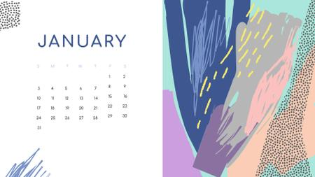 Colorful Paint blots in bright colors Calendar – шаблон для дизайну