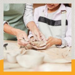 Creative Kids at Pottery class