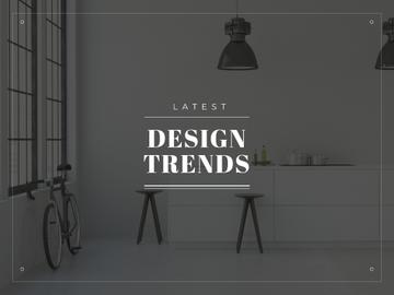 Latest design trends Ad with Minimalistic Room