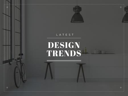 Ontwerpsjabloon van Presentation van Latest design trends Ad with Minimalistic Room