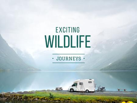 Plantilla de diseño de Exciting wildlife journeys Ad Presentation
