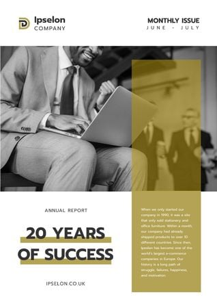 Annual Report about Business Success Newsletter Tasarım Şablonu