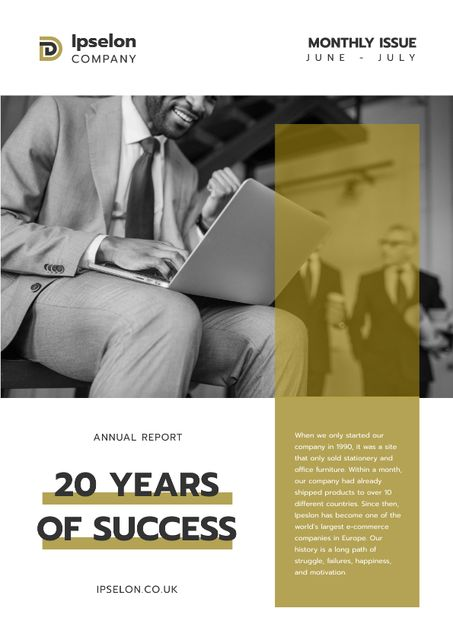 Annual Report about Business Success Newsletter Design Template