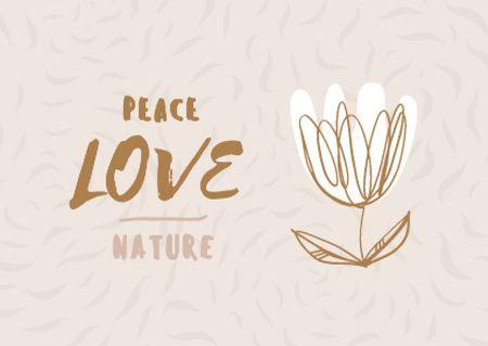 Modèle de visuel Eco Concept with Flower illustration - Postcard
