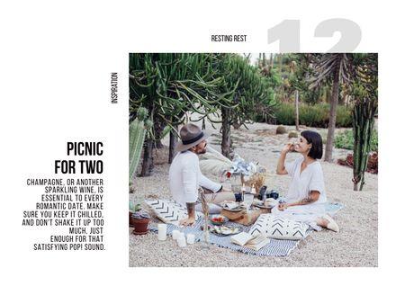 Plantilla de diseño de Happy Couple on Romantic Picnic Brochure