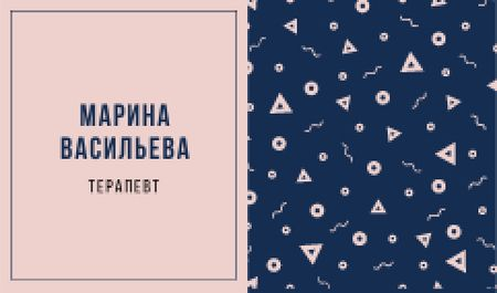 Therapist Ad with Bright Memphis Pattern Business card – шаблон для дизайна