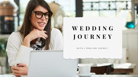 Wedding Planning services with Businesswoman Presentation Wide Design Template